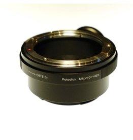 Fotodiox Fotodiox Nikon F-Sony E adapter.