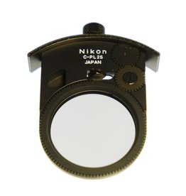 Nikon Nikon C-PL2S drop-in circular polarizer.