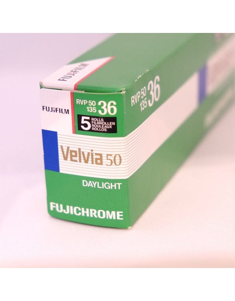 Fujifilm Fujifilm Velvia 50 colour transparency film. 135/36.