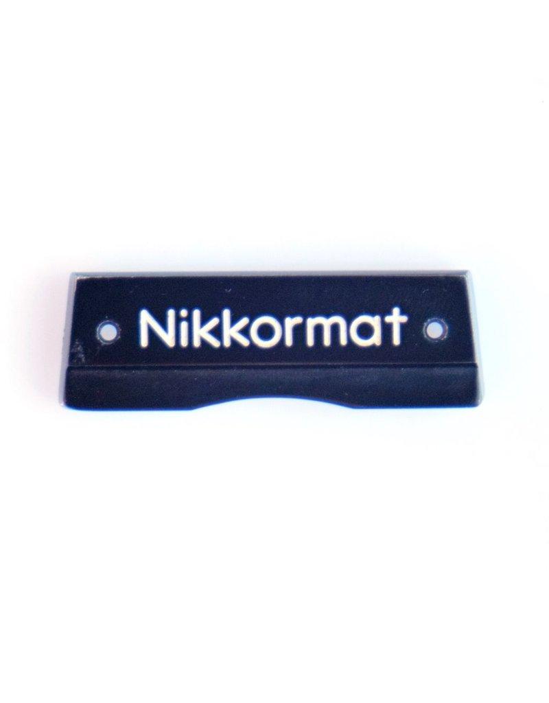 Nikon Pentaprism nameplate for Nikkormat FTN (black)
