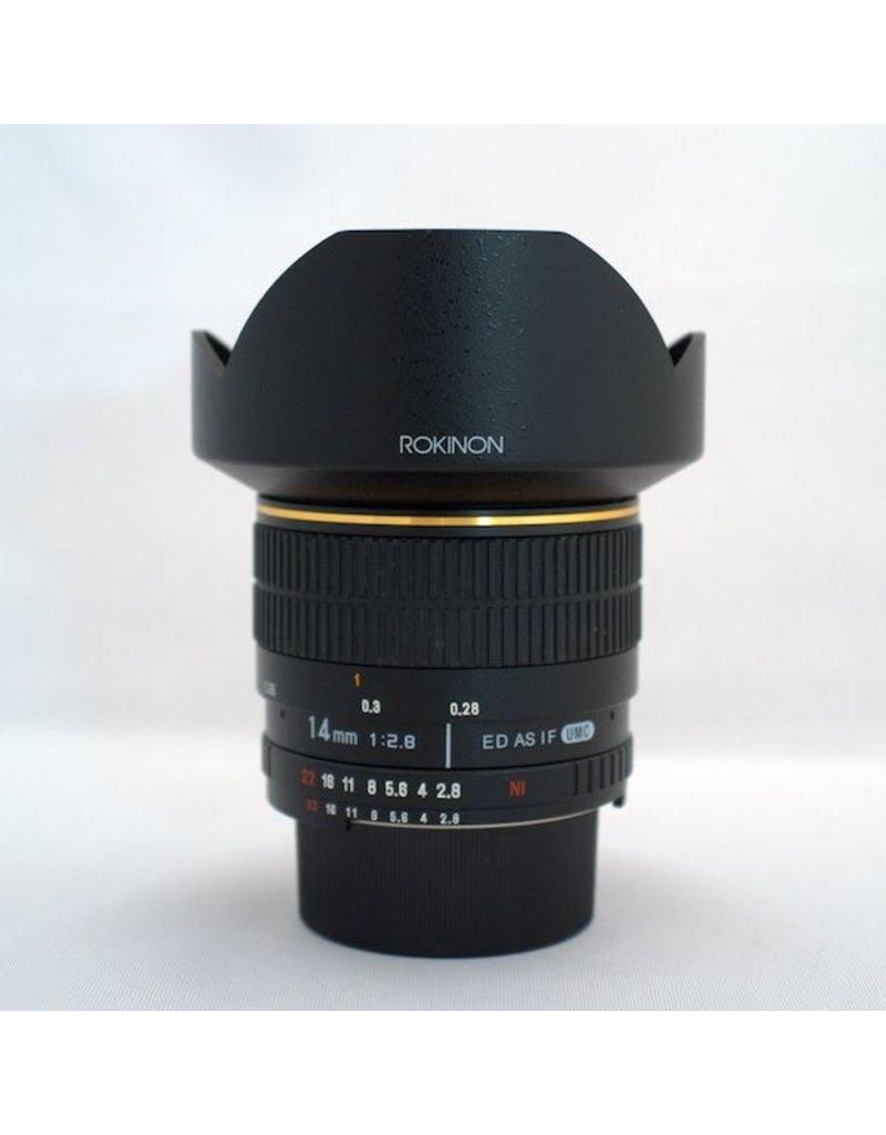 RENTAL Rokinon ED AS UMC 14mm f2.8 Rental.