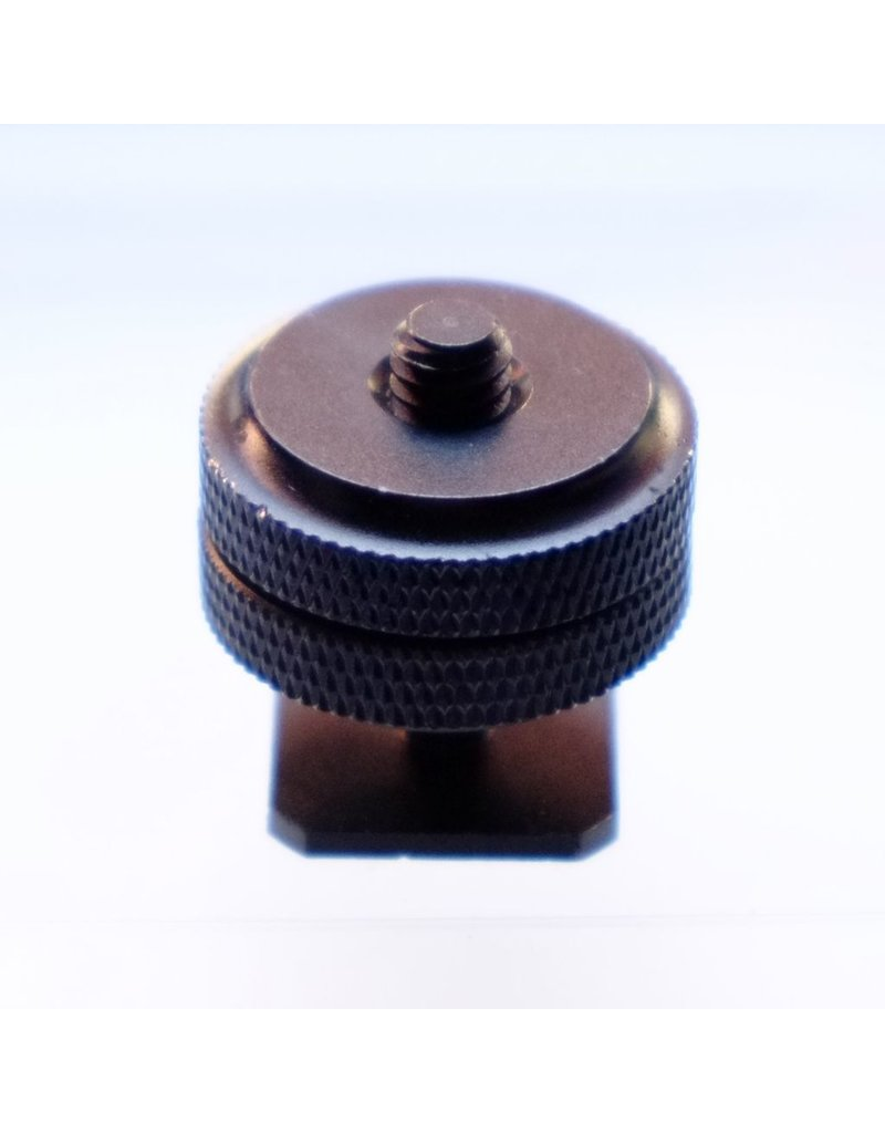 "Camera Traders 1/4"" thread adapter for hot shoe."
