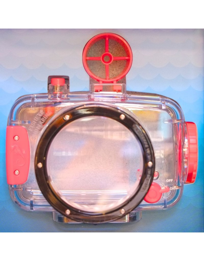 Underwater housing for Lomography Fisheye camera.