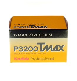 Kodak Kodak TMax P3200 black and white film. 135/36.