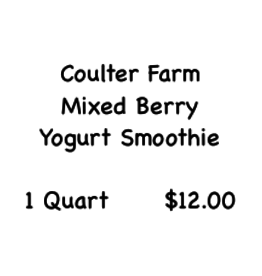 Coulter Farm Coulter Farm Mixed Berry Yogurt Smoothie Quart