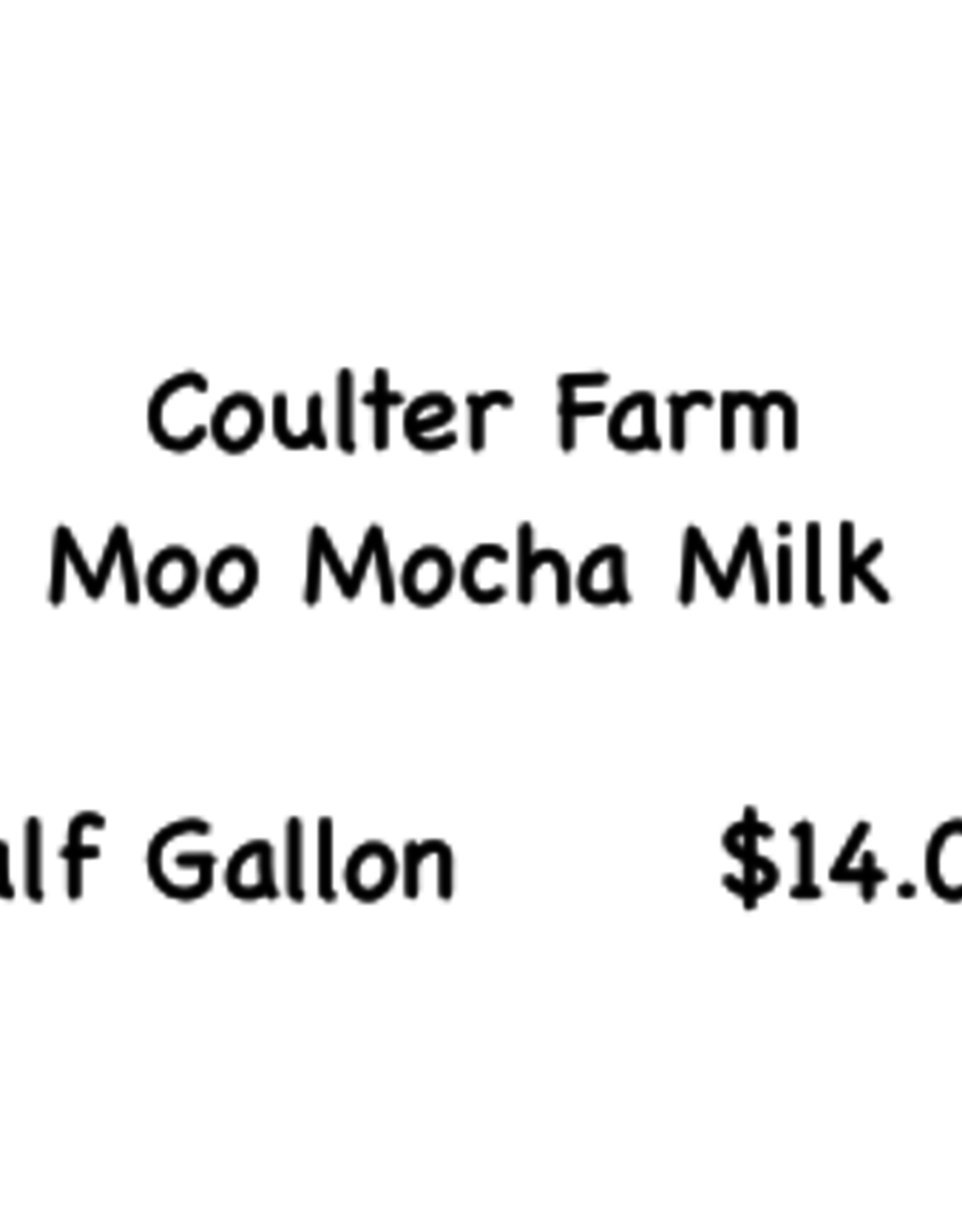 Coulter Farm Coulter Farm Moo Mocha Milk half gallon