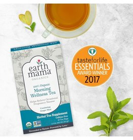 Earth Mama Organics Morning Wellness Tea  (16 tea bags / box)