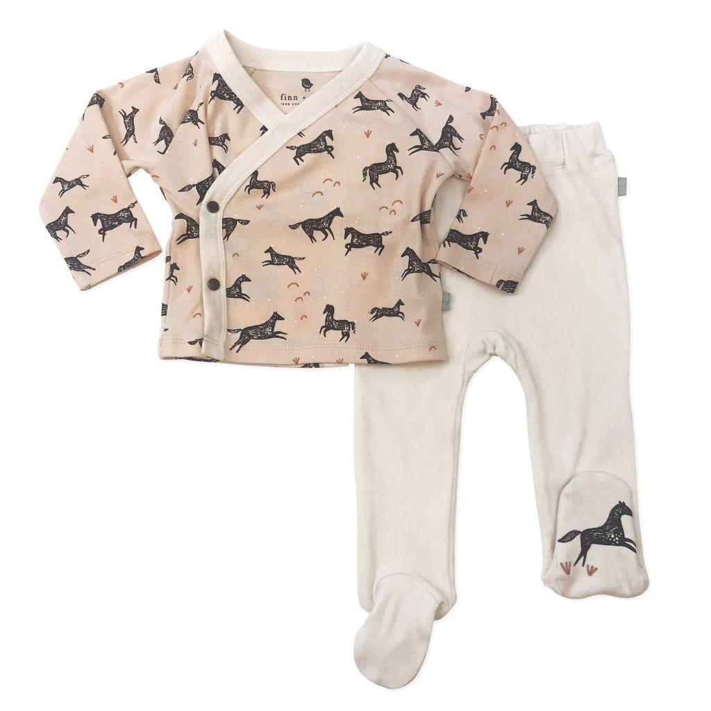 Finn + Emma Kimono & Footed Pant Set