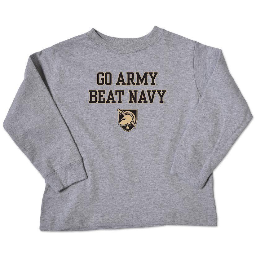 Toddler Long Sleeve T-Shirt (GO ARMY Beat Navy)