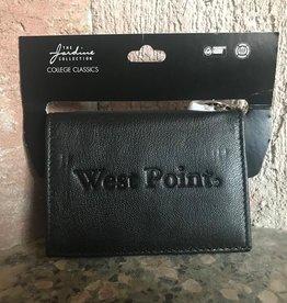 Leather Snap ID Holder-Black