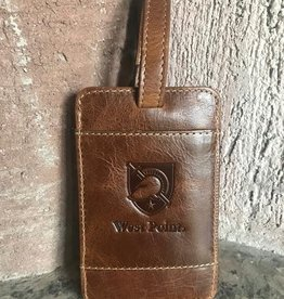 Leather Luggage Tag-Brown