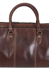 Niagara Canyon Leather Duffel with Crest