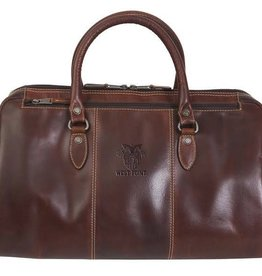 West Point Leather/Niagara Canyon Leather Duffel with Crest (Special Order)