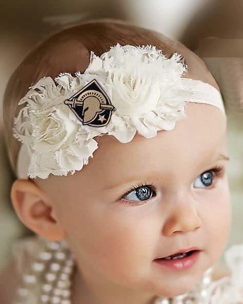 Shabby Flower Headband (Babies)