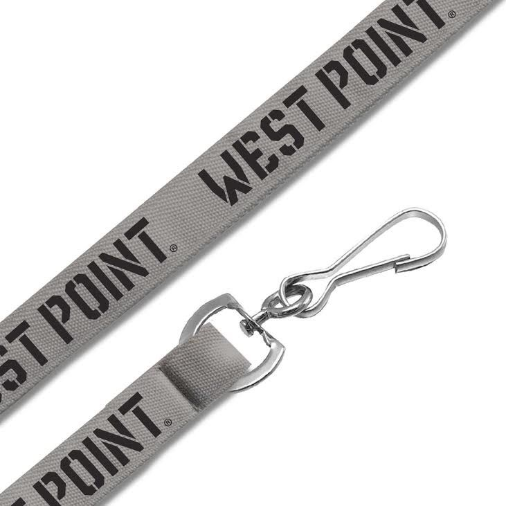 "3/4"" Woven Lanyard with Swivel Snap Hook (Gray/West Point)"