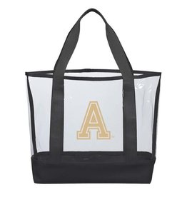 """Clear Casual Tote/West Point """"A"""" (16""""W x 13""""H x 4.5""""D) (Larger Size)"""