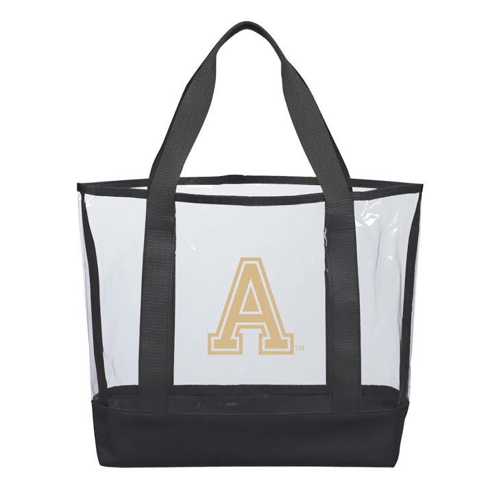 "Clear Casual Tote (16""W x 13""H x 4.5""D) (Larger Size)"