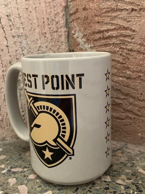 Gray West Point Mug with Shield