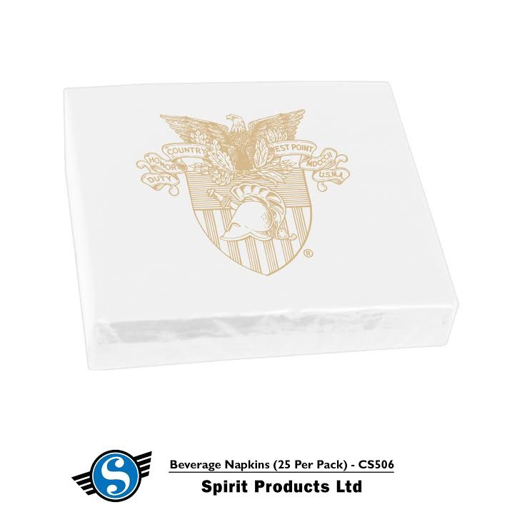Beverage Napkins/West Point Crest (25 per Pack) Spirit Co.