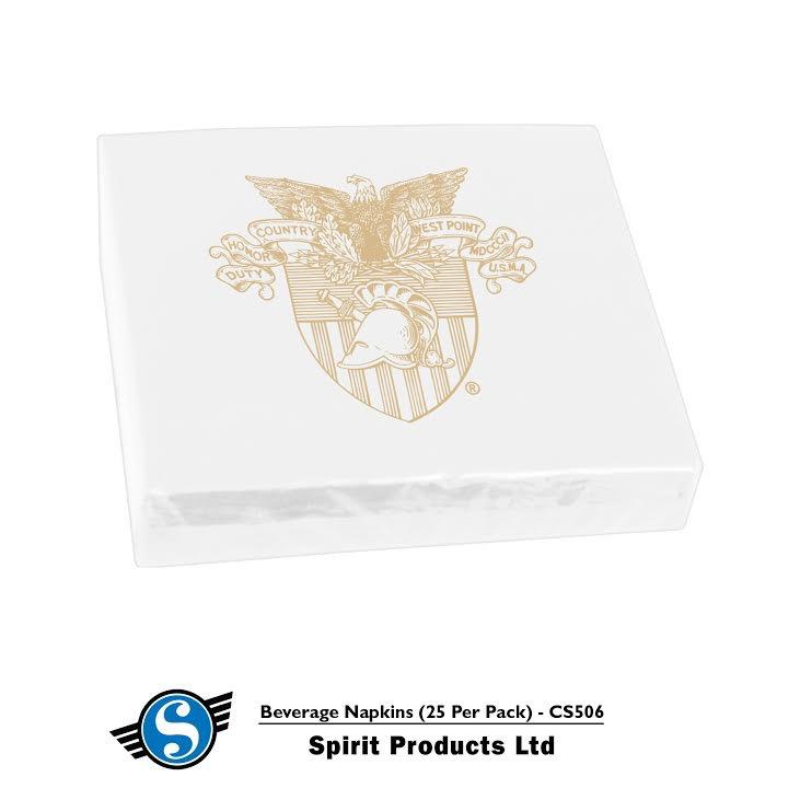 Beverage Napkins/West Point Crest (25 per Pack) Spirit Co.