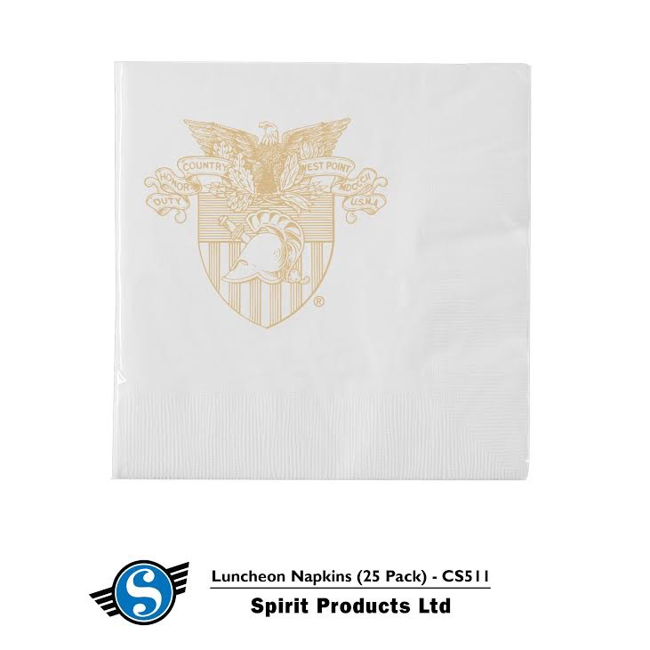 Luncheon Napkins/West Point Crest (25 Per Pack)
