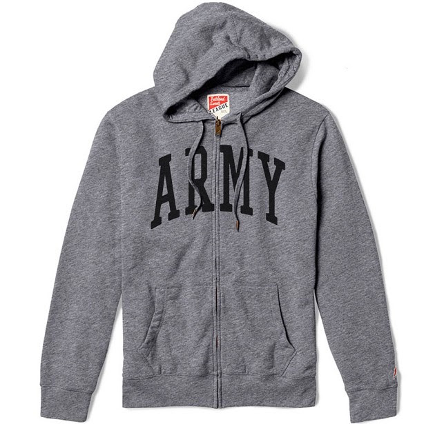 Heritage Zip Up Hooded Sweatshirt (League) ARMY
