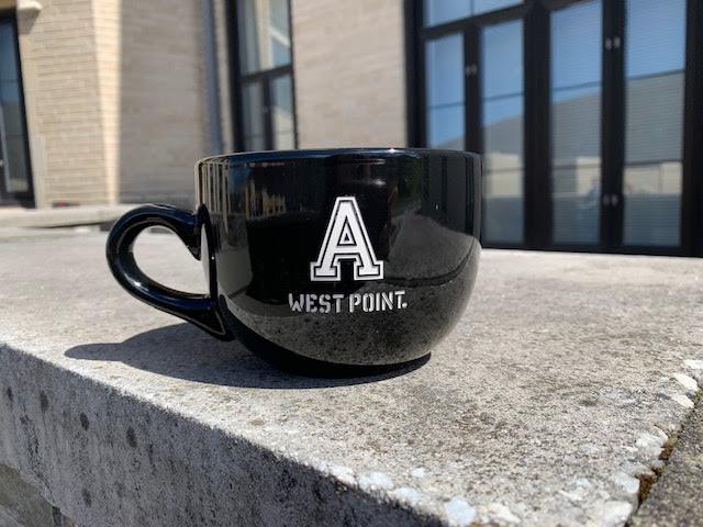 """Black Chowder Mug/Block """"A"""" West Point (24 ounce)"""