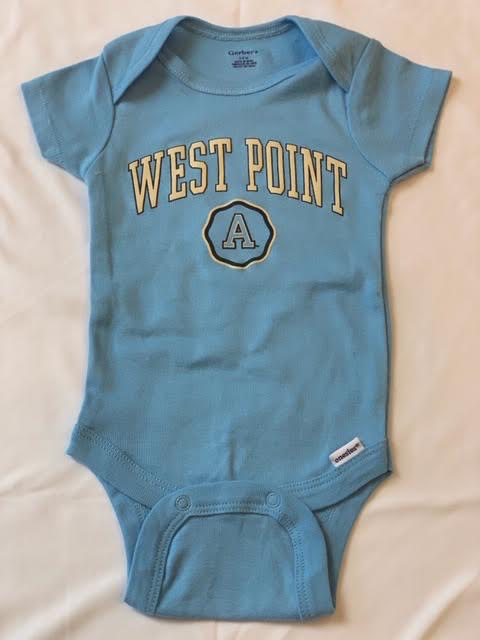 Gerber Short Sleeve West Point Onesie (Pink or Blue)