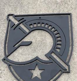West Point Athletic Shield Steel Wall Decor, 8 inches by 9 inches