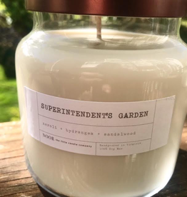"""Large """"Superintendent's Garden"""" Hand-Poured Soy Candle, 12 ounce (Noor Candle Co.)"""