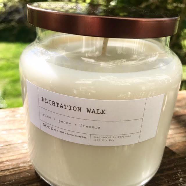 "Large ""Flirtation Walk"" Hand-Poured Soy Candle, 12 Ounce (Noor Candle Co.)"