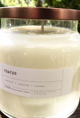 "Large ""Thayer"" Hand-Poured Soy Candle, (Noor Candle Co.), 12 ounce"