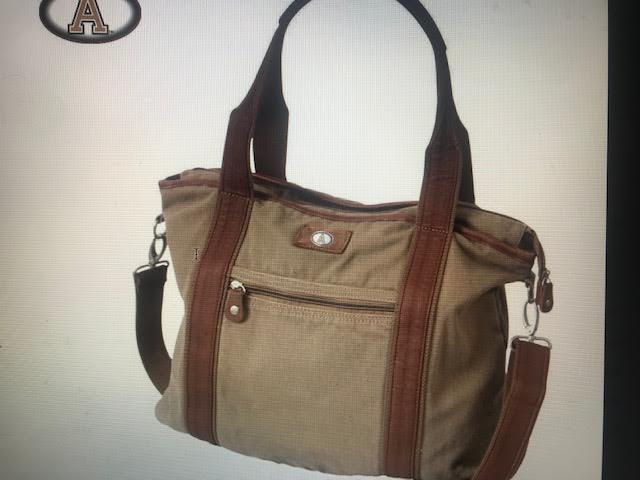 Tucker Canvas Tote with Block A