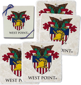 Four Coasters USMA Crest in Printed Box