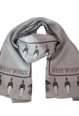 Cadet and Crest Oblong Silk Scarf, 11 x 54 inches