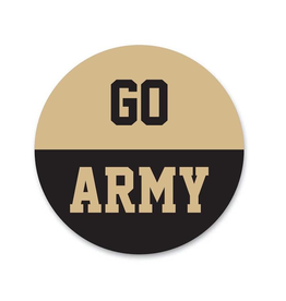 """GO ARMY"" Button (Pins On)"