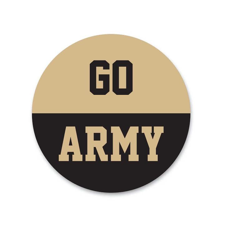 """""""GO ARMY"""" Button (Pins On)"""