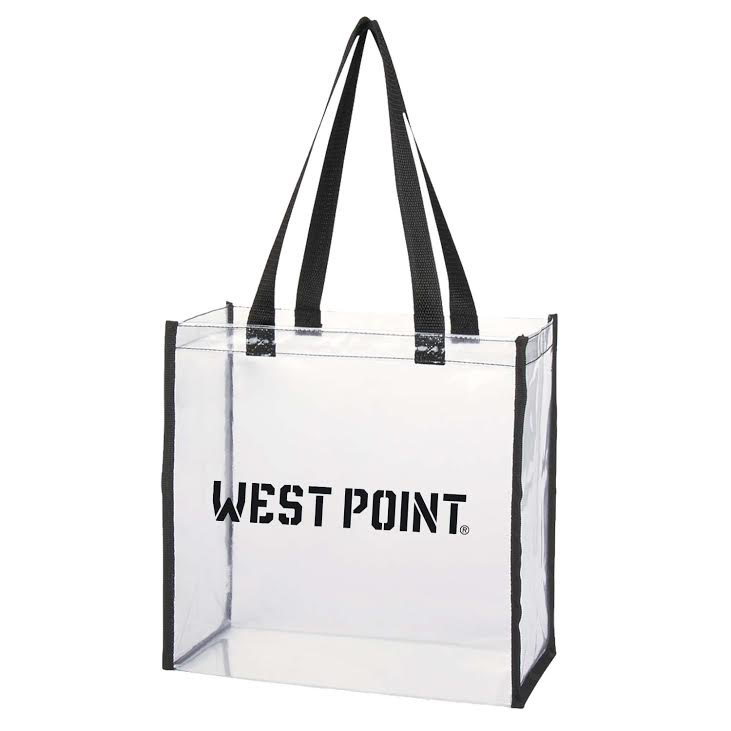 "Clear Stadium Tote (12""W x 12""H X 6""D) (Smaller Size)"