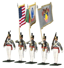 W. Britain Company: West Point Cadet Color Guard Figurines