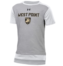 """Under Armour Youth/""""West Point""""/ Charged Cotton Colorblock Tee"""