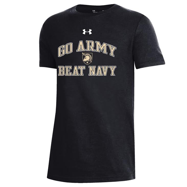 Under Armour Performance Cotton SS Tee (Youth/GO ARMY BEAT NAVY)