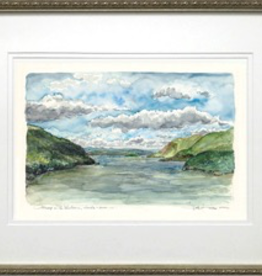 """Midday on the Hudson"" Framed Print (M. Mullin)"