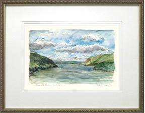 """Midday on the Hudson"" Framed Print (M. Mullin)"