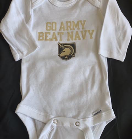 Gerber Long Sleeve Onesie: GO ARMY BEAT NAVY