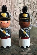 Wooden Male Cadet Ornament (S. Arney)