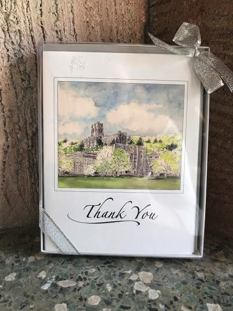 West Point Thank You Note (Six Per Box) M. Mullin Art