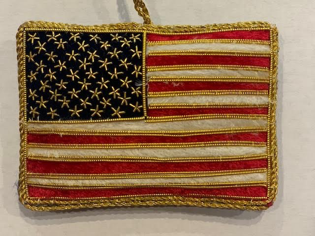 Embroidered American Flag Ornament (St. Nicholas Ornament)