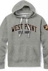 Stadium Hood Sweatshirt (League Collegiate), Gray