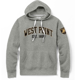 Stadium Hood Sweatshirt (League Collegiate), Gray