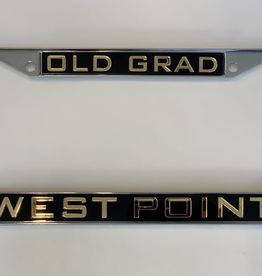 """Old Grad"" West Point License Plate Frame"